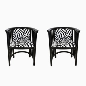 Vienna Secession Armchairs by Josef Hoffmann, 1970s, Set of 2