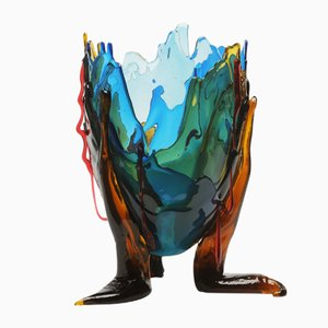Clear Special Extracolor Vase by Gaetano Pesce for Fish Design