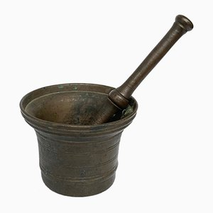 Antique Italian Bronze Mortar and Pestle