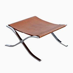 Otomana o taburete Barcelona vintage de Mies van der Rohe para Knoll Inc.