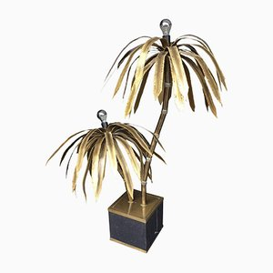 Double Palm Tree Floor Lamp from Maison Jansen, 1960s