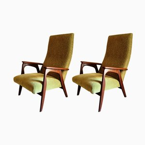 Mid-Century Dutch Easy Chairs, Set of 2