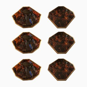 Faux Tortoise Shell Place Mats from Christian Dior, 1970s, Set of 6