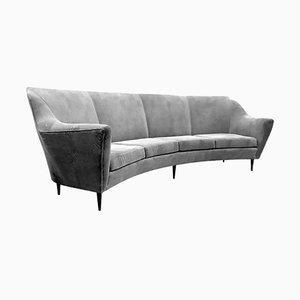 Sofá de cuatro plazas curvado de Ico & Luisa Parisi para Ariberto Colombo, años 50