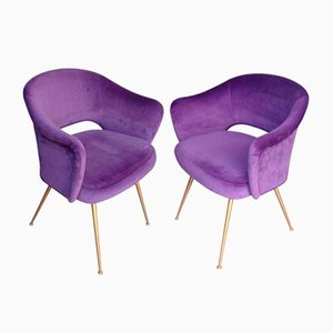 Italian Cocktail Chairs, 1970s, Set of 2