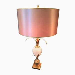 Vintage Egg Lampe aus Glas von Maison Charles