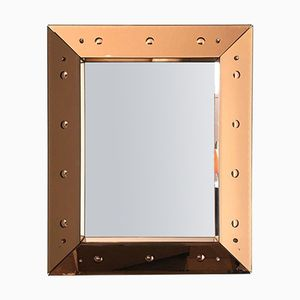 Vintage Rose Pink Mirror by Luigi Fontana for Fontana Arte