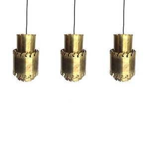 Vintage Brass Pendant Lights from Holm Sørensen & Co, 1960s, Set of 3