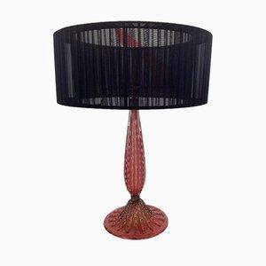 Lámpara de vidrio rubí de Barovier & Toso, años 40
