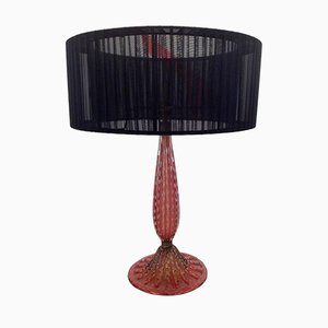 Ruby Coloured Glass Lamp from Barovier & Toso, 1940s