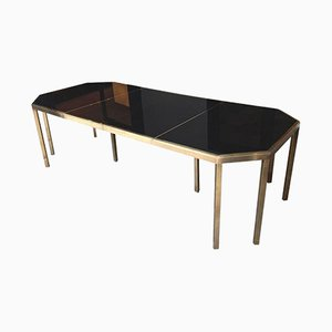 Vintage Brass Extendable Dining Table by Guy Lefevre for Maison Jansen