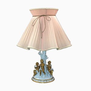 Garden of Eden Table Lamp from Capodimonte, 1920s