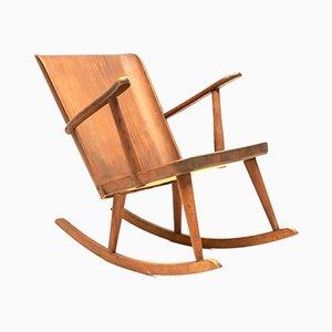 Rocking Chair en Pin par Göran Malmvall pour Karl Andersson & Söner, 1940s