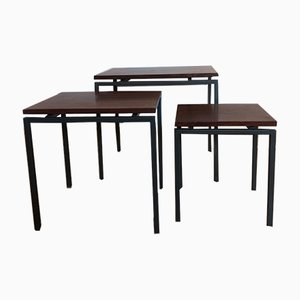 Mid-Century Rosewood Nesting Tables by Cees Braakman For Pastoe, 1950s
