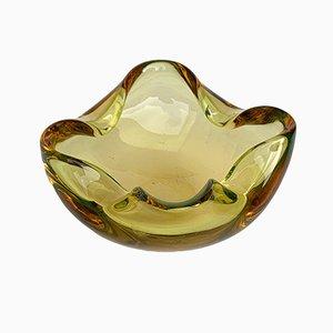 Scodella o posacenere in vetro di Murano ambrato, anni '60