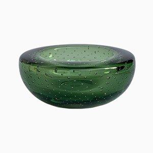 Cenicero o cuenco de cristal de Murano Sommerso bullicante, años 60
