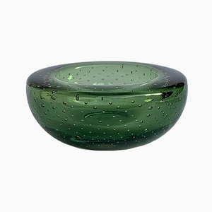 Sommerso Bullicante Glass Bowl or Ashtray, 1960s