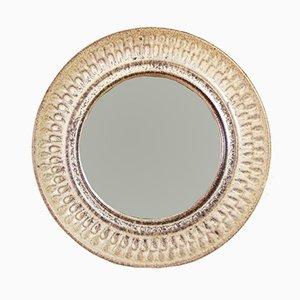 Böhmischer Spiegel mit Keramikrahmen, 1960er