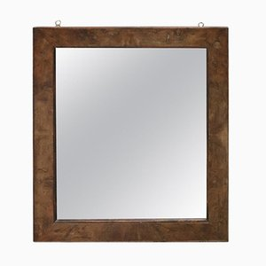 Miroir Mural Antique en Noyer