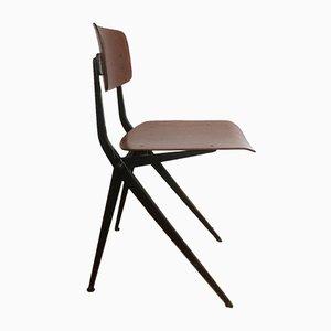 Vintage Stuhl aus Schichtholz mit Kompass-Beinen von Ynske Kooistra für Marko