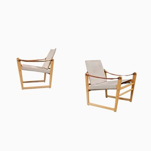 Swedish Cikada Safari Chairs by Bengt Ruda, 1960s, Set of 2