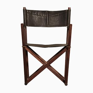 Rosewood MK-16 Director's or Safari Chair by Mogens Koch for Interna, 1960s