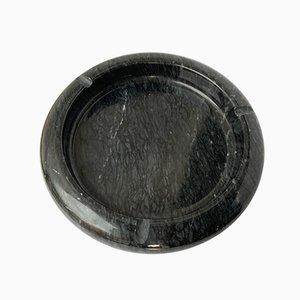 Italienischer Aschenbecher aus schwarzem Marmor, 1970er