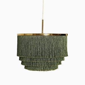 Lámpara colgante con flecos de latón de Hans-Agne Jakobsson, años 60