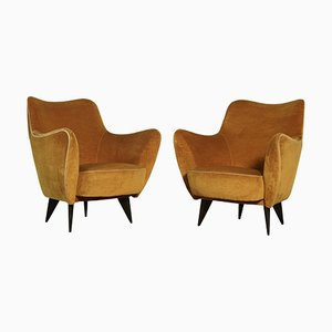 Perla Armchairs by Giulia Veronesi for ISA Bergamo, 1950s, Set of 2