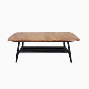 Table Basse à Pieds Noirs Mid-Century par Lucian Ercolani pour Ercol