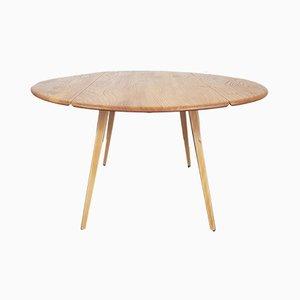 Table de Salle à Manger Ronde à Abattant Mid-Century par Lucian Ercolani pour Ercol