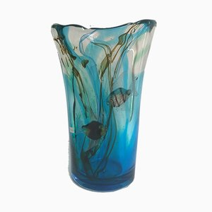 Murano Glass Vase from Mazzucato, 1970s