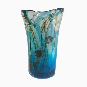 Vaso in vetro di Murano di Mazzucato, anni '70