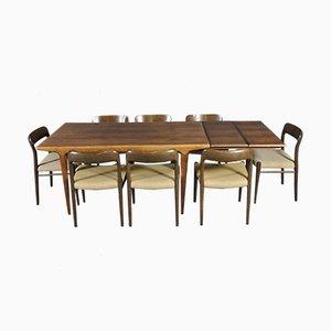 Scandinavian Modern Oak Dining Set by N.O. Möller for J.L. Moller Møbelfabrik, 1960s
