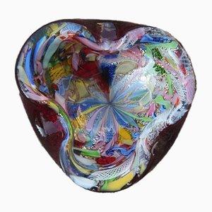 Cuenco Mid-Century de cristal de Murano de Avem, años 50