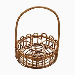 Portabotellas Mid-Century de bambú curvado de Bonacina