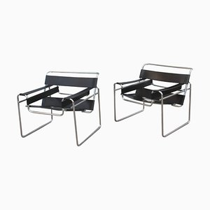 B3 Wassily Chairs by Marcel Breuer for Gavina, 1970s, Set of 2