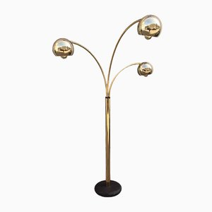 Gold Balls Directional Floor Lamp by Goffredo Reggiani, 1970s