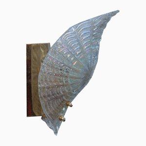 Apliques opalescentes de cristal de Murano, años 70. Juego de 2
