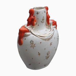 Jarrón italiano de cerámica, años 50