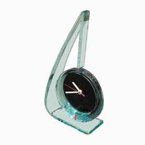 Italian Glass Clock, 1980s
