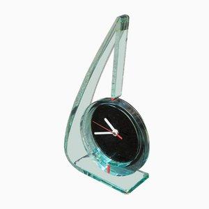 Reloj italiano de vidrio, años 80