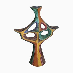 Candelabro Mid-Century de cerámica, 1957