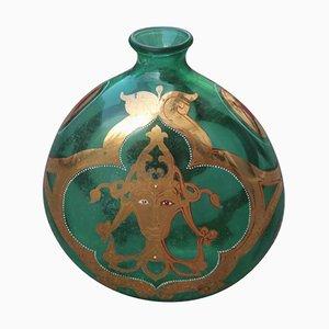 Botella italiana Mid-Century de cristal de Murano, años 50