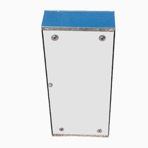 Taquilla rectangular en azul cobalto de Veca, años 60