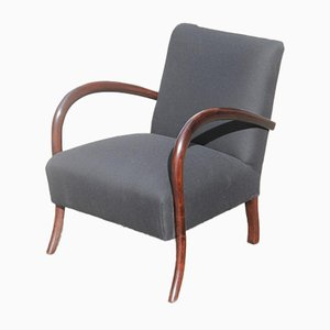 Italian Black and Brown Armchair, 1950s