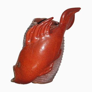 Mid-Century Ceramic Red Fish, 1950s