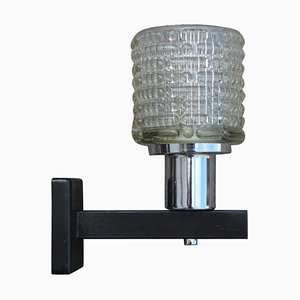 Mid-Century Round Glass Sconce from Kalmar, 1960s