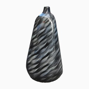 Large Airbrush Colored Vase, 1980s
