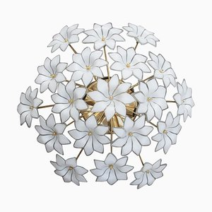 Italian Murano Glass Flower Ceiling Lamp, 1970s